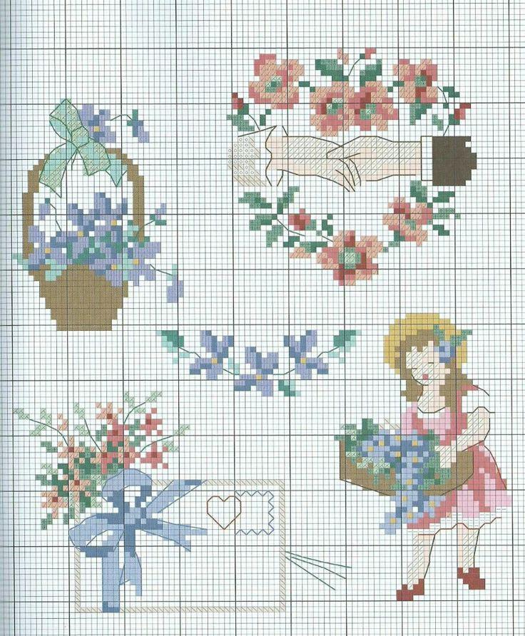 #crossstitch #kanaviçe #çiçekler #aşk #küçükkız #flowers #love #littlegirl