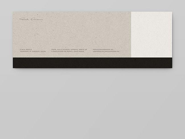 rick owens cartons d'invitation by notter + vigne.