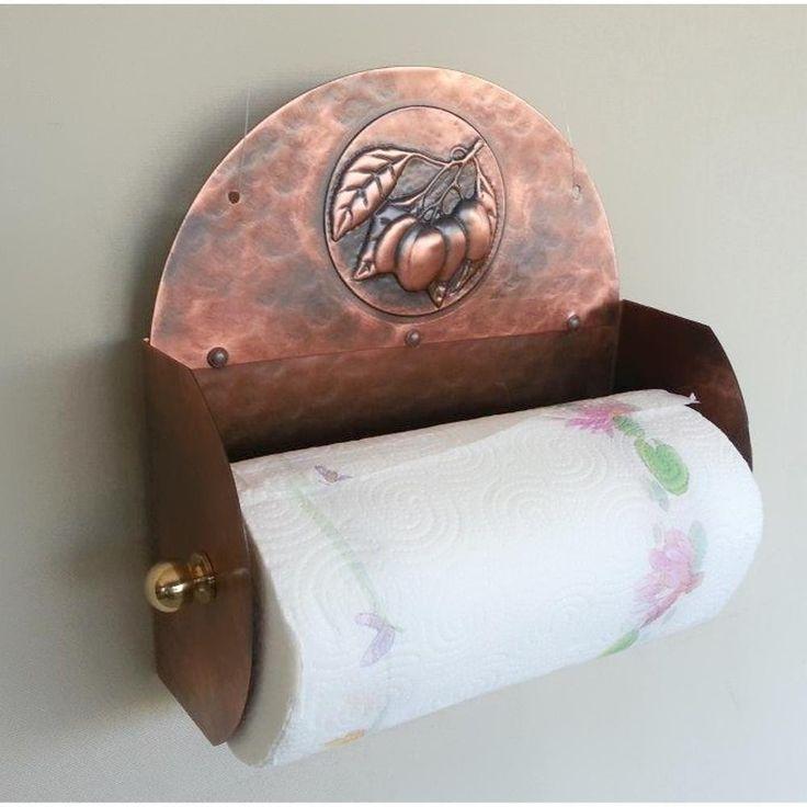 Portarotolo Portascottex in Rame Martellato 13x26xh27 cm da appendere Prugne | idearame | Stilcasa.Net: porta rotoli da cucina