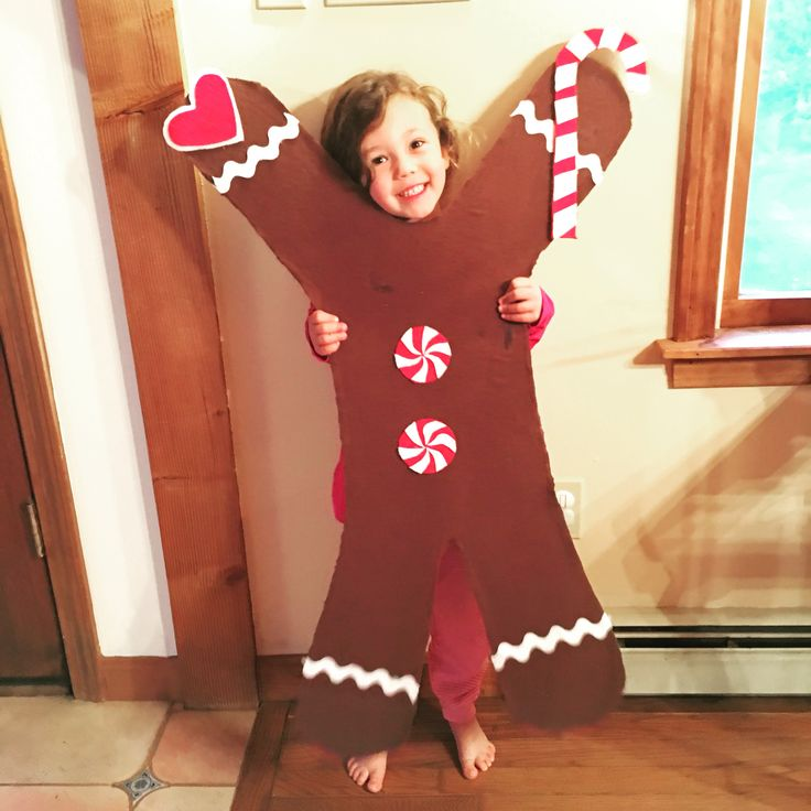 gingerbread man halloween costume made of cardboard and felt sc 1 st pinterest