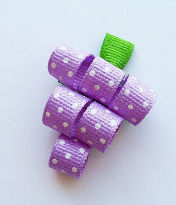 Grapes - curly ribbon, looks pretty simple.