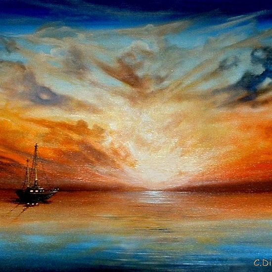 Sunset at Sea by Cherie Roe Dirksen (Prints available)