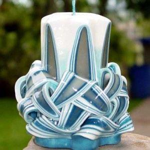 Candle carving, love these colors