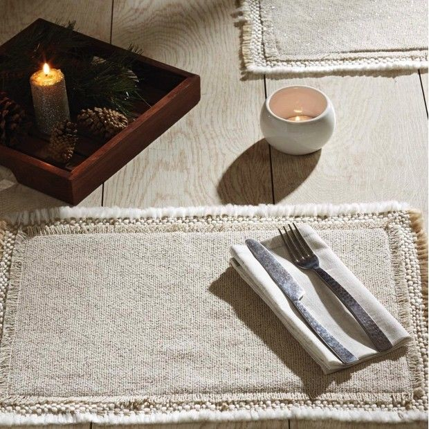 Neutral Placemats, Set of 6