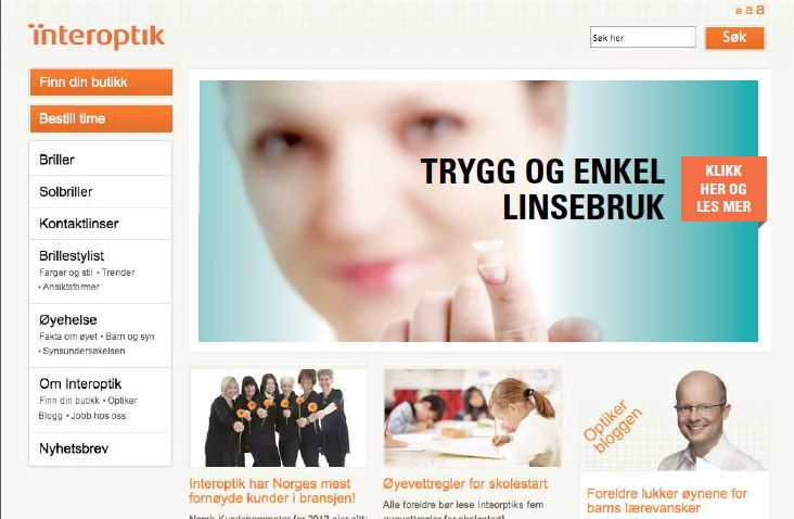 Bannerskisse for Interoptik
