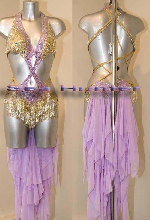 972c Egyptian Belly Ballroom latin salsa chacha samba rumba Dance Dress US 12