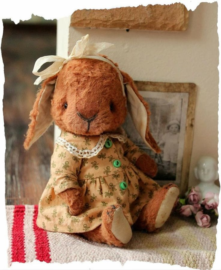 ....awwww....such a cute country bunny!....love the bashful expression...