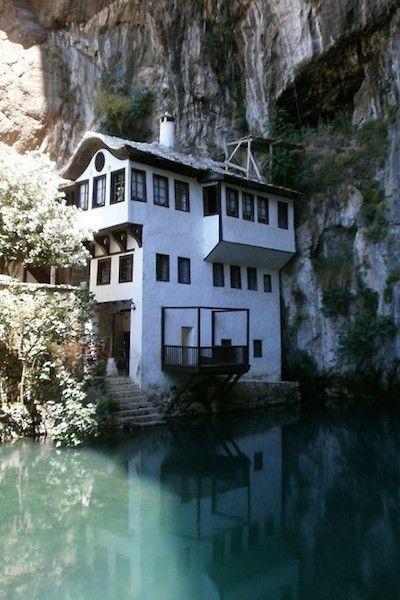 dreamy Mediterranean lake house.