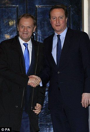 Donald Tusk, pictured with David Cameron outside Downing Street, warned that talks over Britain's EU deal are in a 'very fragile' state