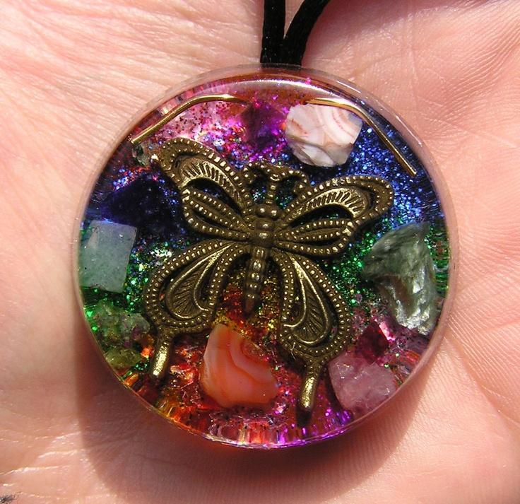 Butterfly Transformation Orgone Pendant by mysticrocksorgone, $31.00