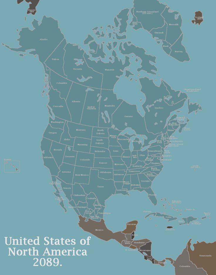 North American Union Map%0A Alternate History  Flags  Alternative  Nerd  Otaku  Geek