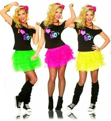 Fun 80's party fashion. Find everything you need to plan your own 80s party at http://sparklerparties.com/rock-the-80s/