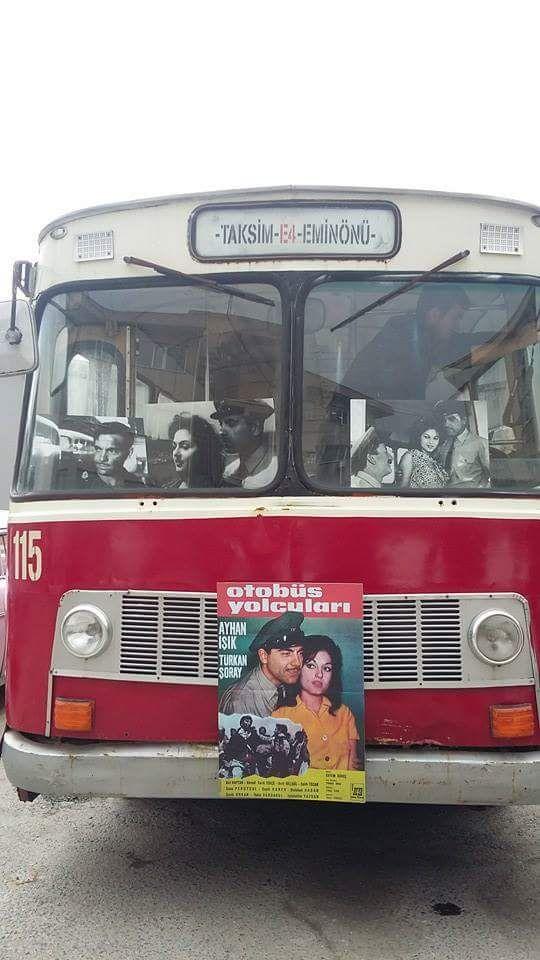 """Taksim - Eminönü hattı ve """"Otobüs Yolcuları"""" filmi afişi… #İstanbulBeniBırakma #istanlook"""