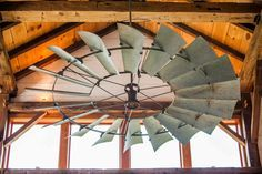 This is an awesome statement making ceiling fan! find out where to buy these on the blog   www.theharperhouse.com
