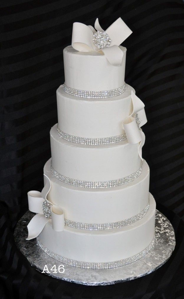 33 best Bling Wedding Cakes images on Pinterest | Cake wedding ...