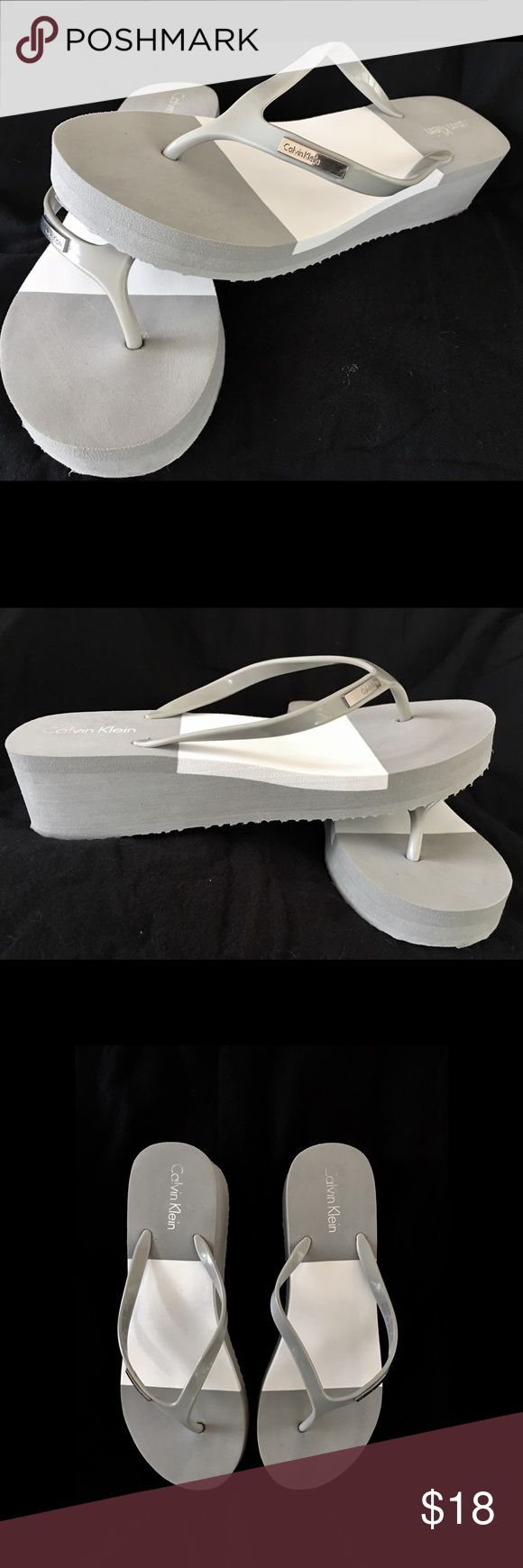 Selling this 🎀Nib Baden Eva By Calvin Klein Wedge Flip Flops🎀 on Poshmark! My username is: doone0703. #shopmycloset #poshmark #fashion #shopping #style #forsale #Calvin Klein #Shoes