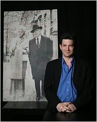 Tom Oppenheim in front of his  grandparents Stella Adler and Harold Clurman.