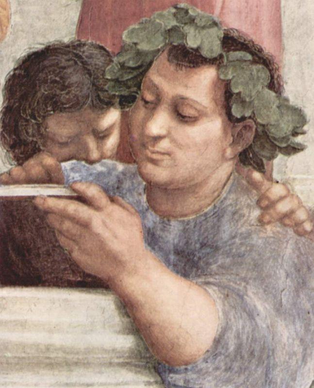 Musei Vaticani - Stanze di Raffaello. Stanza della Segnatura. The school of Athens (Epicurus, detail)