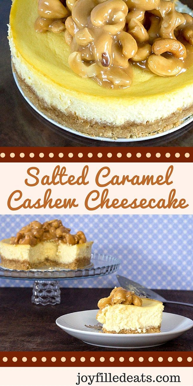 My amazing indulgent Salted Caramel Cashew Cheesecake has a cashew crust, salted caramel & roasted cashews. It is low carb, sugar/gluten/grain free & THM S.