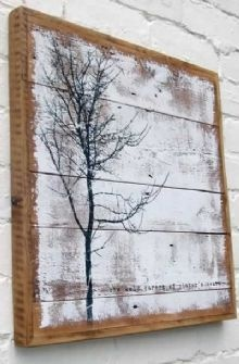 Love the idea of a print on wood slats. Wish I could figure out how to make something like this.