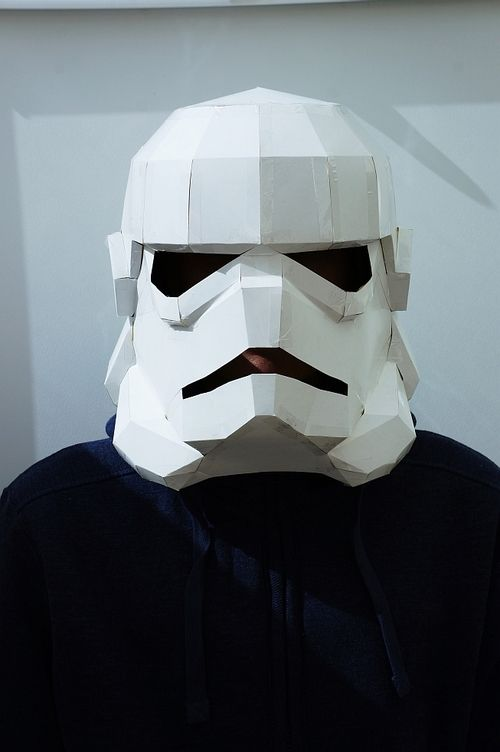 Stormtrooper helmut unfolded