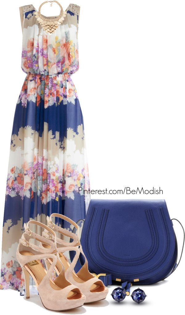25 Maxi Dress Outfits Polyvore Combinations - Be Modish