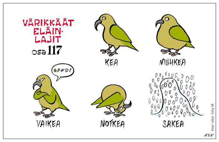 Eläinlajit 117 kea