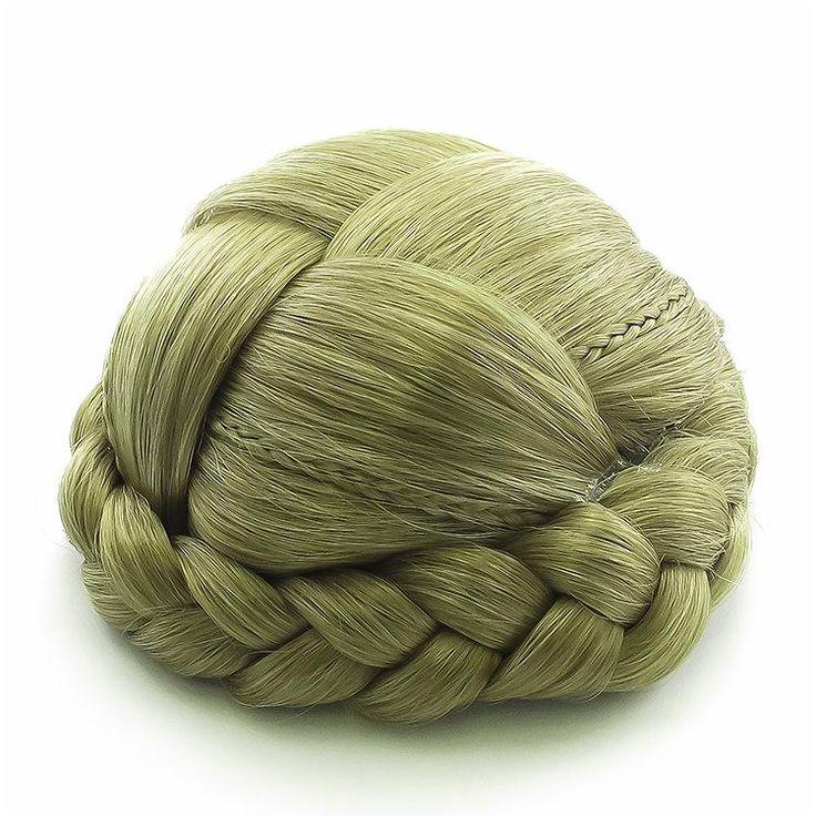 Small Clip In Braided Plait Bun - Blonde