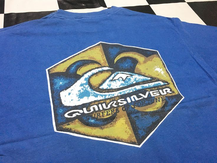 Vintage Quiksilver t shirt one point logo Size L Made in canada by AlivevintageShop on Etsy