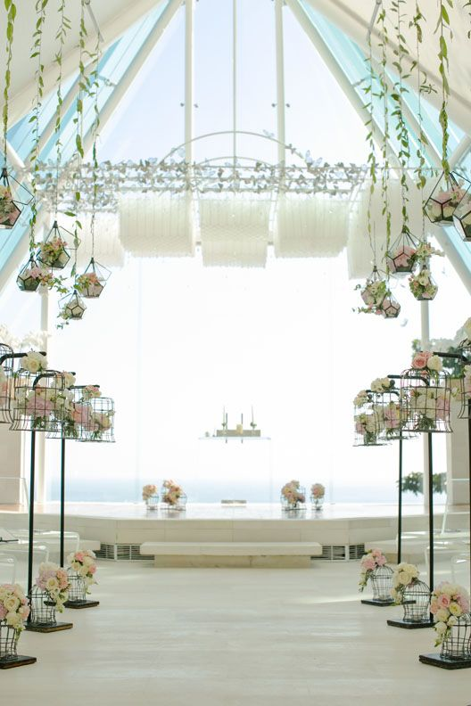 Aisle in Blush Pink, White and Ivory b