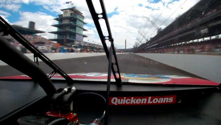 The finish line is in view from Ryan Newman's Quicken Loans chevy - Brickyard 400 (July 28, 2013)