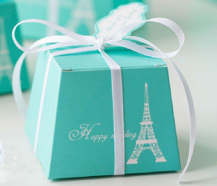 50 pc Tiffany Blue Wedding Candy Boxes! | Home & Garden, Wedding Supplies, Wedding Favors | eBay!