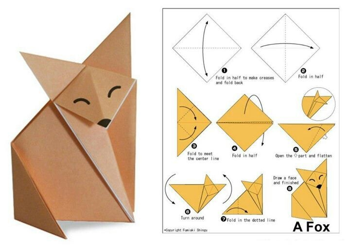 The cutest origami I've ever seen in my life.
