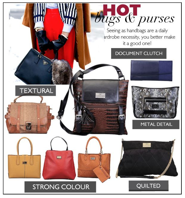 What's trending? The hottest handbags and purses of 2013. Read more in The Magazine > http://www.diligo.co.za/magazine/2013/02/22/2013s-hottest-handbags/