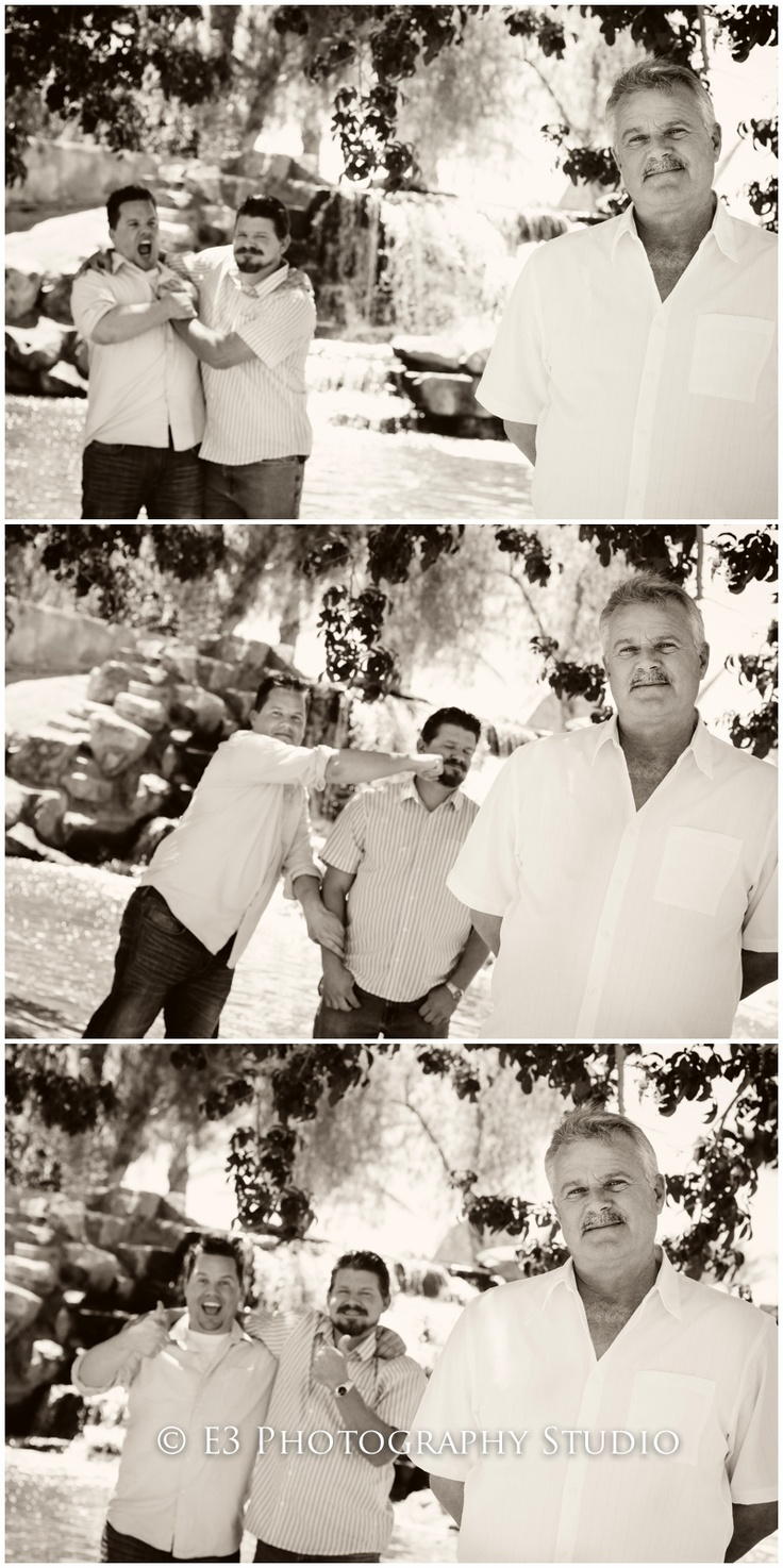 Funny Family Portrait Set - E3 Photography Studio, Las Vegas, NV - Great Father/Son portrait
