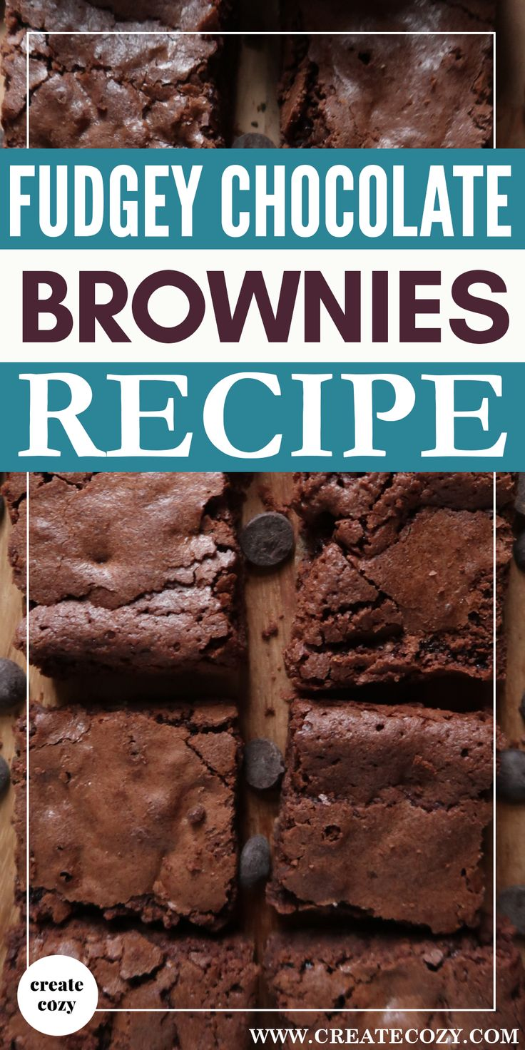 The EASIEST and yummiest fudgey chocolate brownies made with just TWO bowls and ZERO complicated steps, you have to try these!!