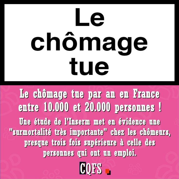 Le chômage tue par an en France entre 10.000 et 20.000 personnes !   Inform'Action