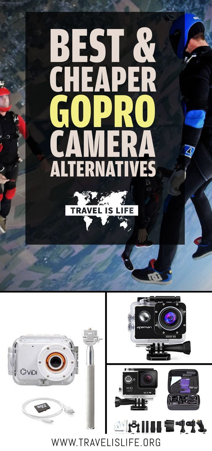 GoPro cameras are awesome, but pricey! I've compared and reviewed the best less expensive GoPro alternatives to satisfy your action camera needs in 2017.   USA   Hero5 Alternatives   Hero5 Session Alternatives   Hero Session   Best Travel Cameras   Best T