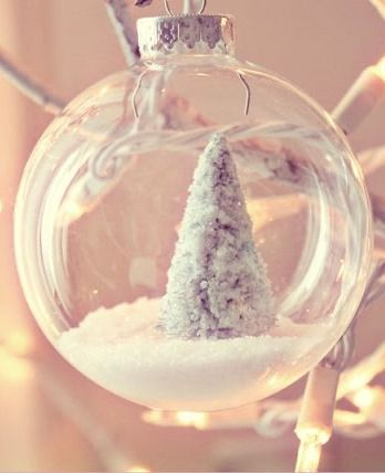 Clear Christmas Crystal Ball Ornament Ideas!