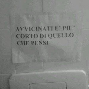 Cartelli con scritte in bagno www.video-hub.org