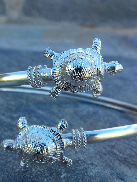 Turtle bracelet Cuff Sterling Silver 925 bracelet boho turtle
