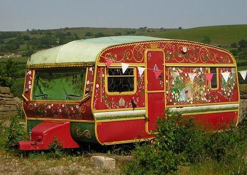 Turn your ordinary old trailer into a gypsy caravan.