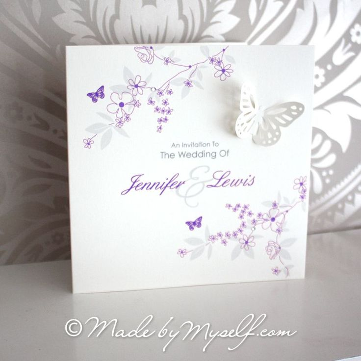 Butterfly Garden Pocketfold Wedding Invitation - Includes RSVP & Guest Information