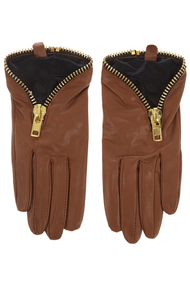 John lewis leather driving gloves - Chunky Zip Leather Gloves 2013 Fall Fashion