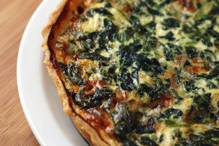 spinach. bacon. bleu cheese.
