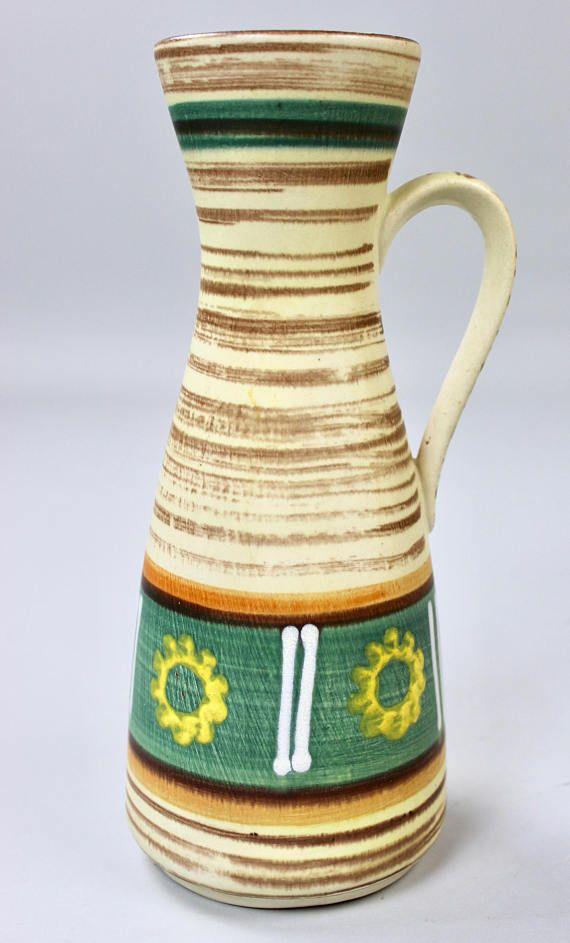 Vintage Vasen Keramik Vase Bay Jasba Westgerman Pottery Etsy Vintage Vase Pitcher