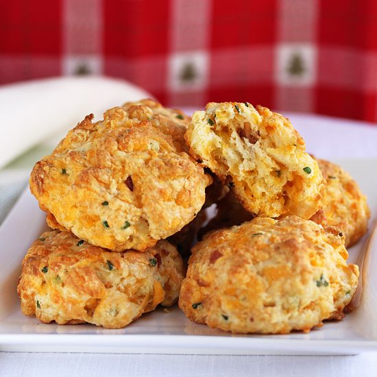 Cheddar & Bacon Biscuits | Bread, Buns & Rolls | Pinterest