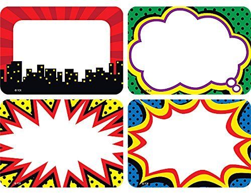 Superhero Tags/Labels: Amazon.co.uk: Office Products