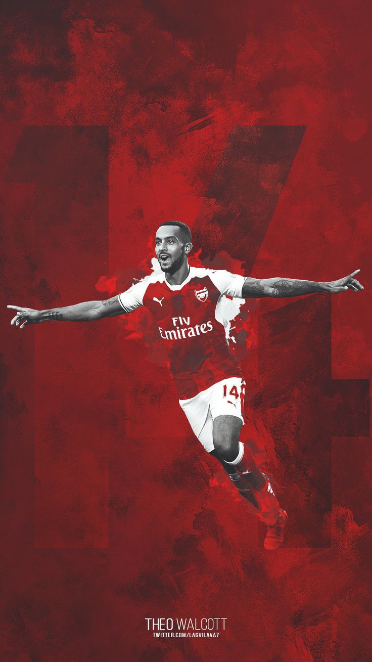 Theo Walcott. Lock screen.