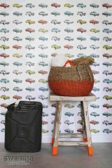 Bunte Oldtimer - Everybody Bonjour von Rasch Textil